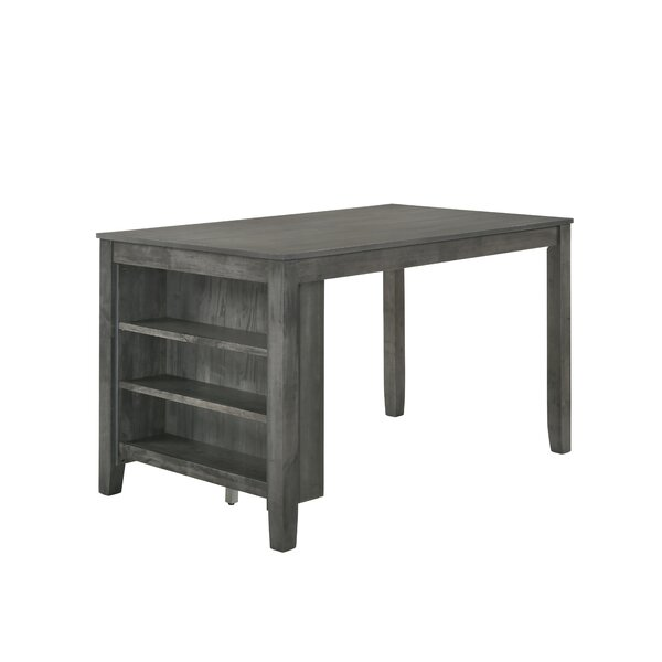 Blondell Counter Height Dining Table with Shelf by Foundry Select