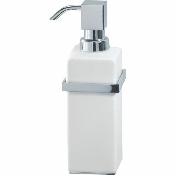 Simeone Standing Porcelain Pump Soap and Lotion Dispenser by Orren Ellis
