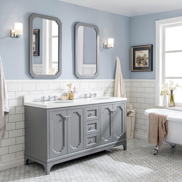 Kylan 60 Double Bathroom Vanity Set with Mirrors