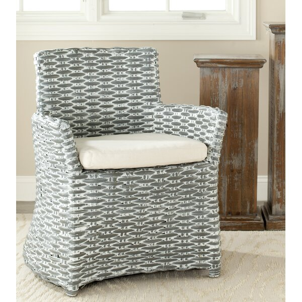 Farrington Arm Upholstered Dining Chair by Highland Dunes