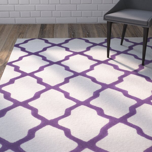 Charlenne Ivory / Purple Area Rug by Zipcode Design