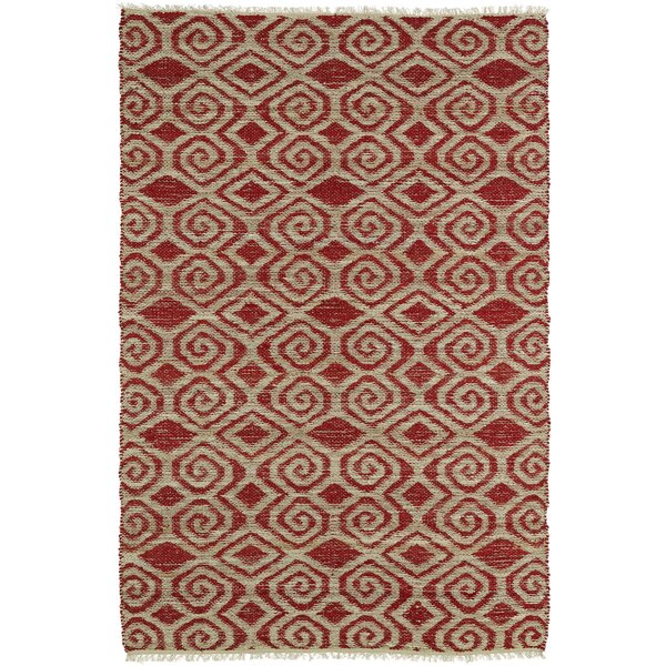 Saint-Joseph Beige/Red Area Rug by Bungalow Rose