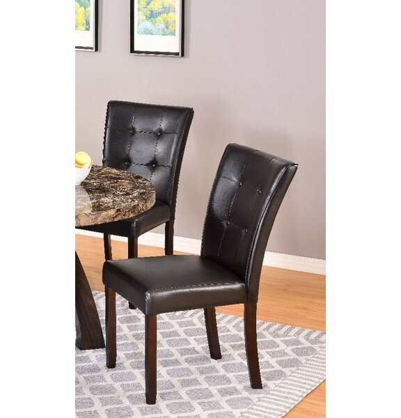 Chadron Tufted Upholstered Side Dining Chair in Dark Brown (Set of 2) by Red Barrel Studio Red Barrel Studio