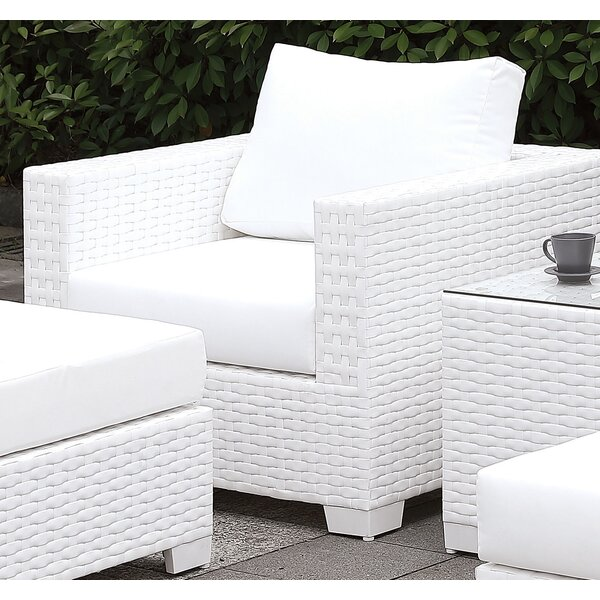 Kuhn Patio Chair with Cushions by Rosecliff Heights