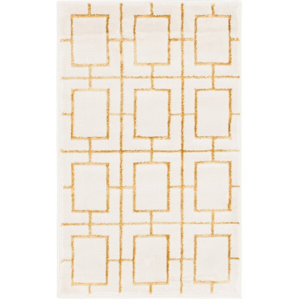 Glam Gold/Beige Area Rug by Marilyn Monroe