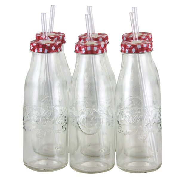 Coca-Cola Country Classic 15 oz. Glass Bottle (Set of 6) by Gibson