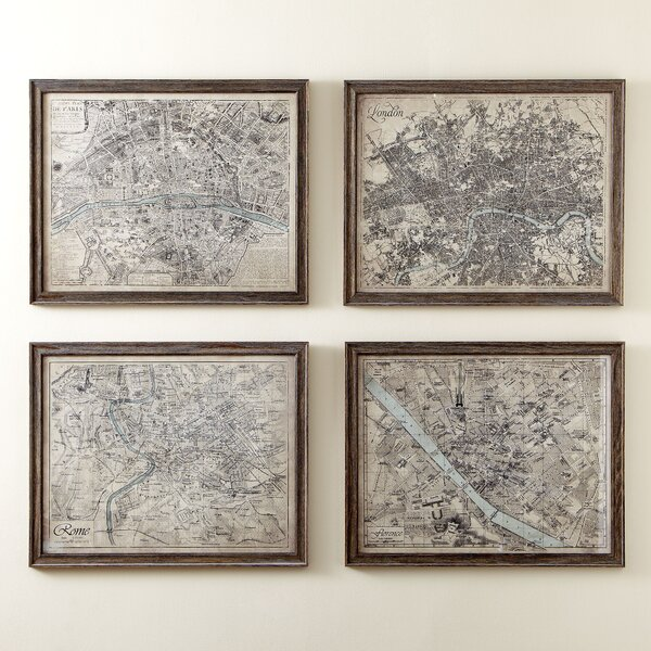 Sepia Florence Map Framed Print By Birch Lane.