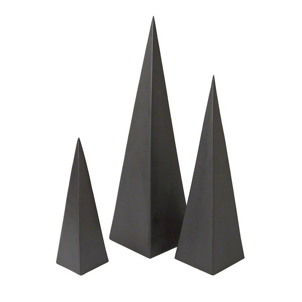 Pyramid Object 3 Piece Figurine Set By Dwellstudio.