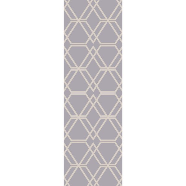 Viminal Hand-Hooked Medium Gray Area Rug by Langley Street