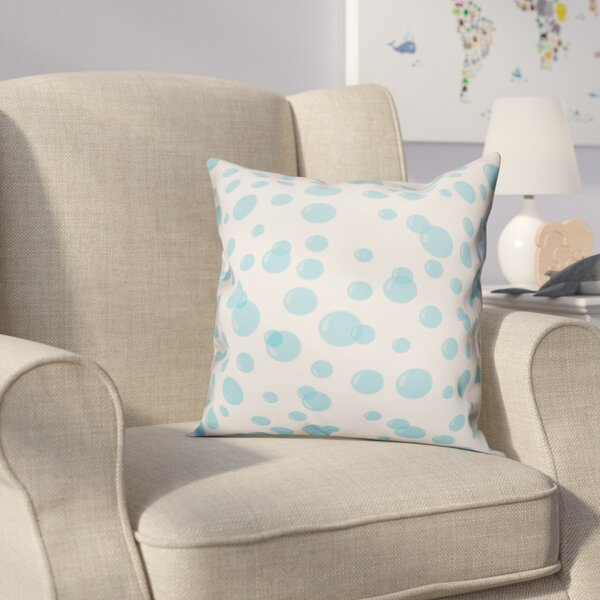 Jace Bubbles Throw Pillow by Zoomie Kids