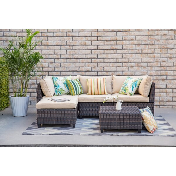 Evangeline 5 Piece Sectional Set with Cushions by Bay Isle Home