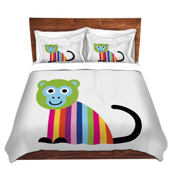 Rainbow Monkey Duvet Cover Set