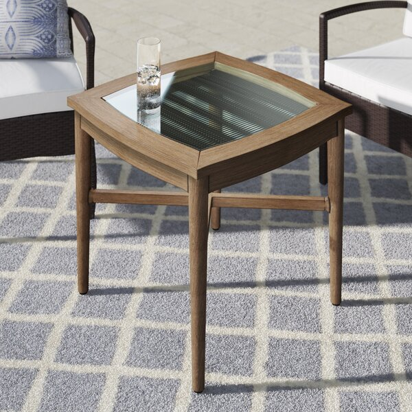 Predmore Glass Side Table by Mistana