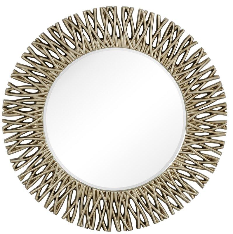 Majestic Mirror Large Round Antique Silver Decorative Beveled ...