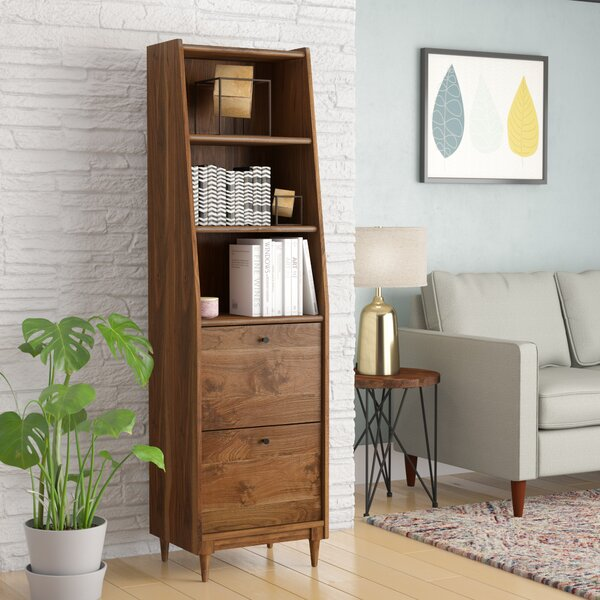 Gamma Narrow Standard Bookcase by Ivy Bronx
