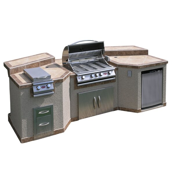 4-Burner Built In Propane Gas Grill with Cabinet b