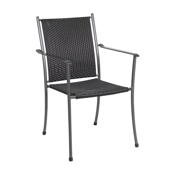 Rangel Stacking Patio Dining Chair (Set of 4) by Wrought Studio