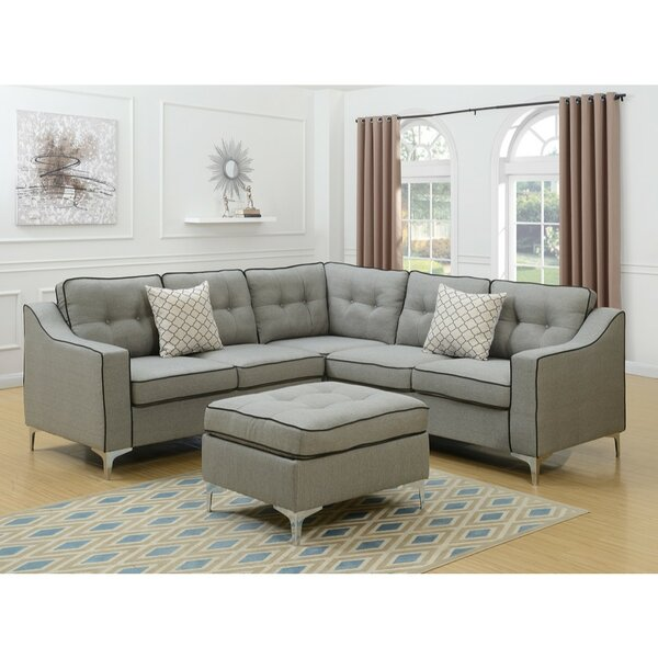 Willenborg Modular Sectional with Ottoman by Orren Ellis