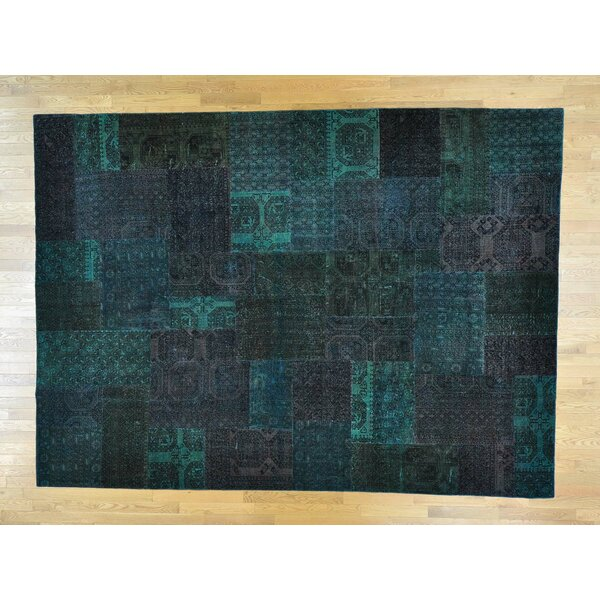 One-of-a-Kind Bonnell Afghan Turkoman Patchwork Overdyed Handwoven Wool Area Rug by Isabelline