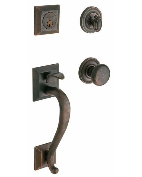 Madison Double Cylinder Handleset with Classic Interior Knob by Baldwin