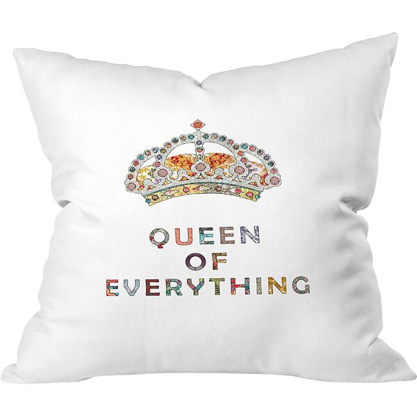 Queen of Everything Outdoor Euro Pillow