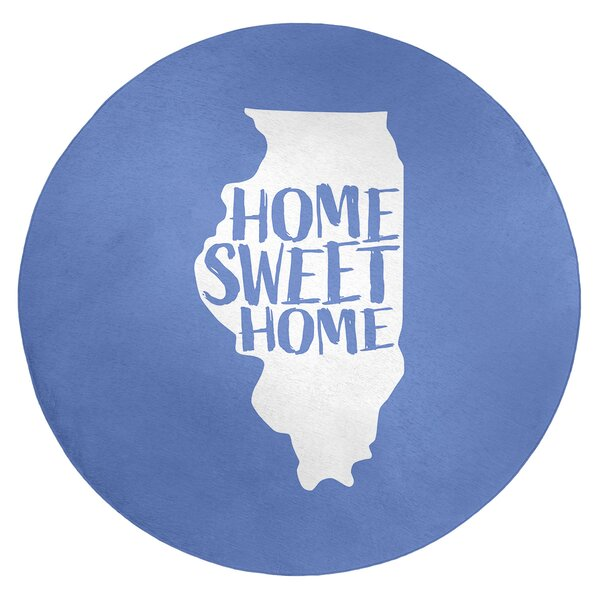 Home Sweet Illinois Poly Chenille Rug