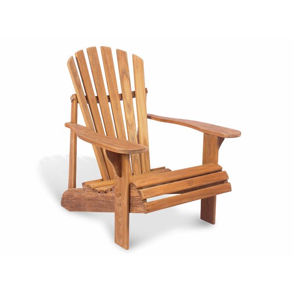 Overton Montauk Solid Wood Adirondack Chair by Rosecliff Heights Rosecliff Heights