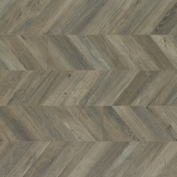Reclaime 7.5 x 54.34 x 12 mm Contraste Laminate Flooring in Parisian Chevron by Quick-Step
