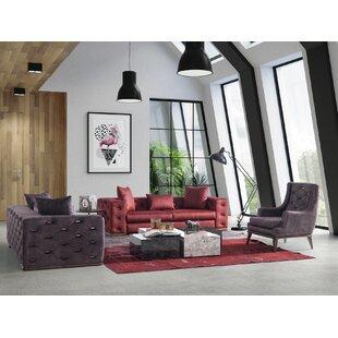 Naughton 3 Piece Living Room Set by Rosdorf Park