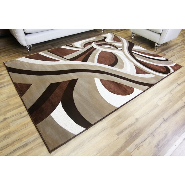 Crystal Brown/Beige Area Rug by Beyan Signature