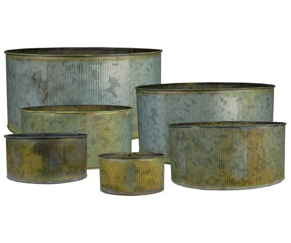 Corrugated 6 Piece Table Vase Set by CYS-Excel
