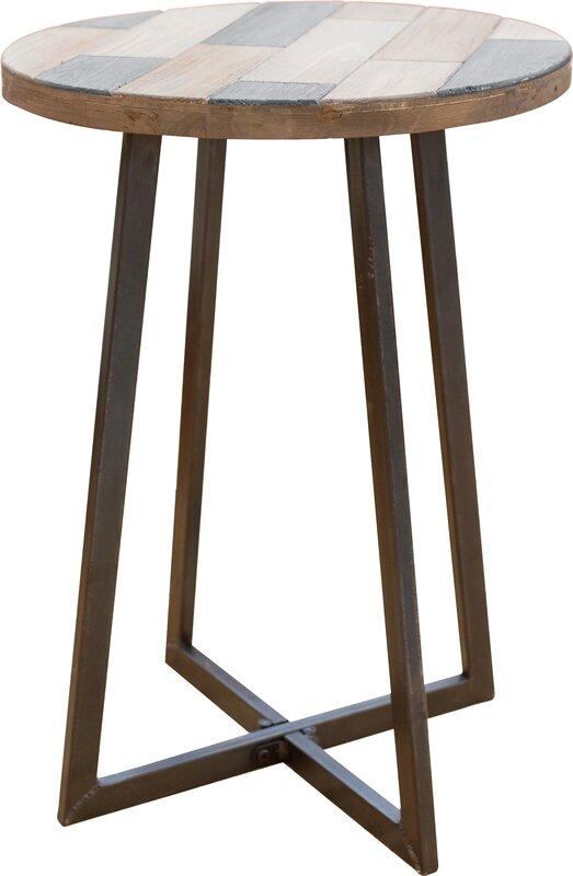 Tisbury Rustic Wood End Table
