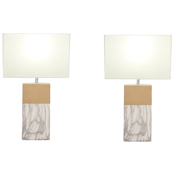 Rectangular 25 Table Lamp (Set of 2) by Urban Designs