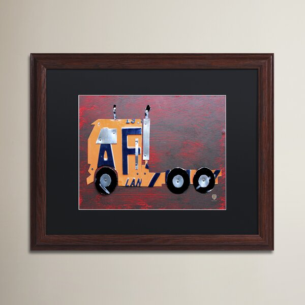 Wendi Semi Truck by Design Turnpike Wood Framed Art by Zoomie Kids