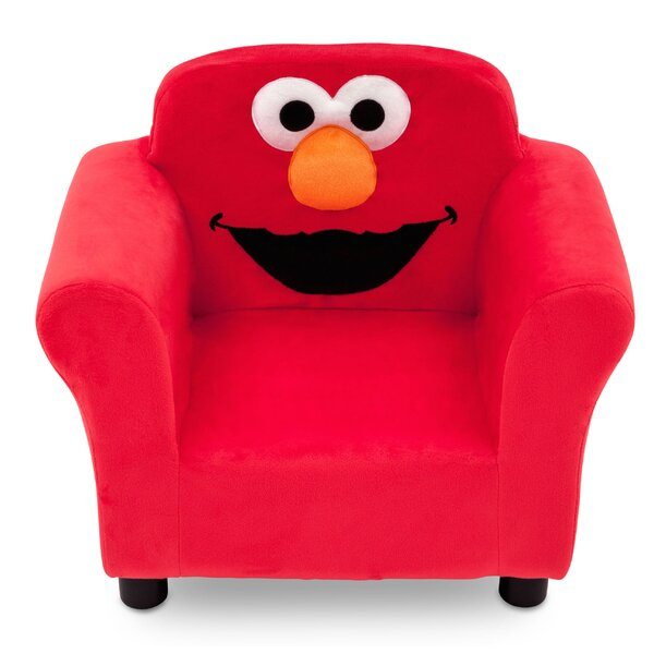 Sesame Street Elmo Kids Upholstered Club Chair by Delta Children