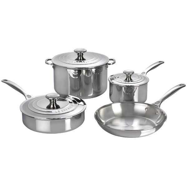 7 Piece Stainless Steel Cookware Set by Le Creuset