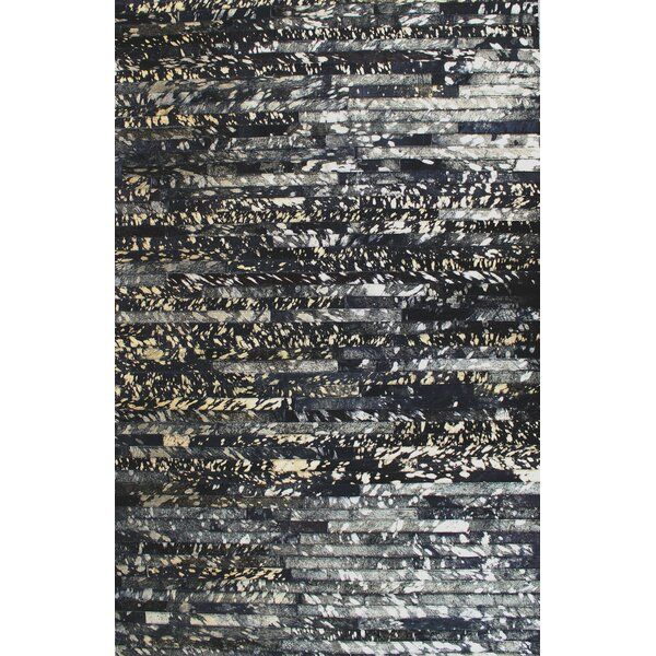 Patchwork Galaxy Stripe Black Area Rug by Modern Rugs