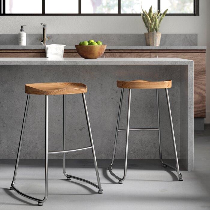 Brookshire Solid Wood/Metal Counter Stool Set