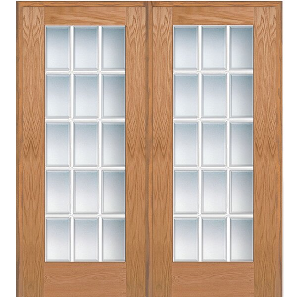 Wood 2-Panel Red Oak Interior French Door by Verona Home Design