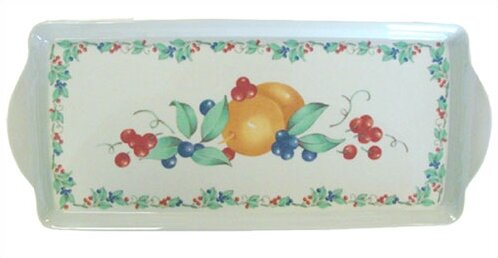 Impressions Abundance Melamine Tidbit Rectangle Serving Platter by Corelle