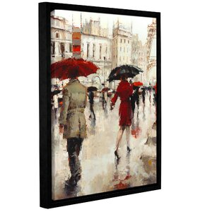 Parting on a Paris Street Framed Painting Print by Latitude Run
