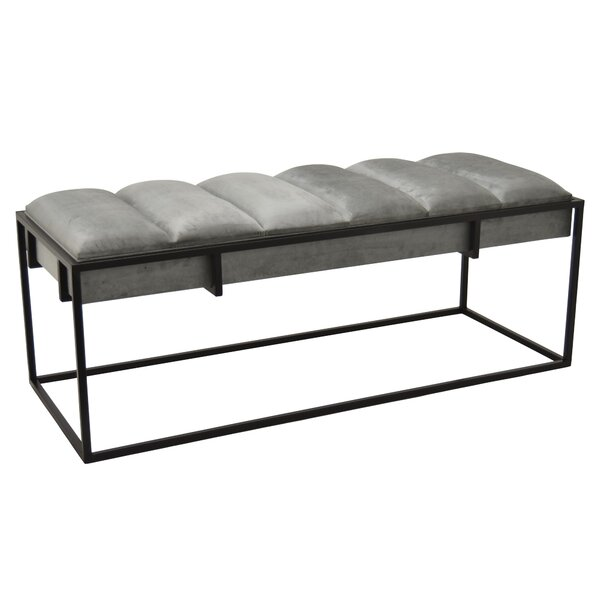 Ceniceros Upholstered Bench by Union Rustic