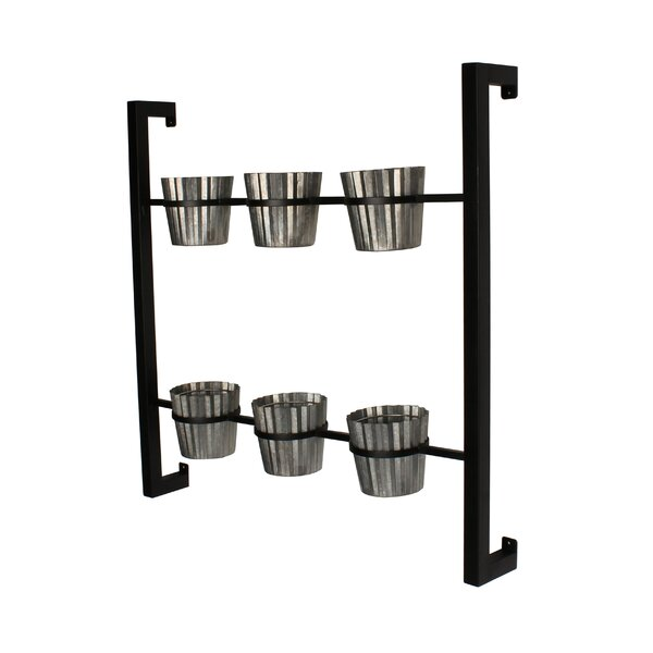 6-Piece Groves Metal Wall Planter Set by Kate and Laurel