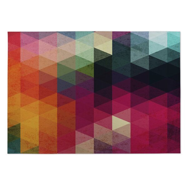 Many Colors Pink/Orange Indoor/Outdoor Area Rug by KAVKA DESIGNS