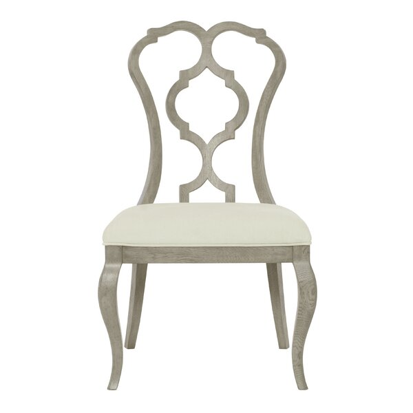 Marquesa Upholstered Queen Anne Back Side Chair In White By Bernhardt