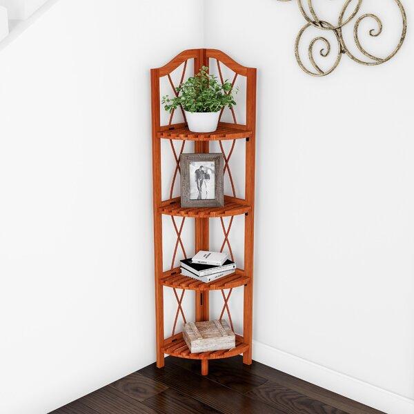 Alcala Folding Corner Bookcase By August Grove