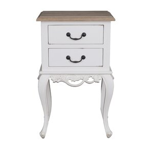 Lirette 2 Drawer End Table by One Allium Way