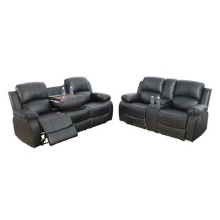 Alissha 2 Piece Faux Leather Reclining Living Room Set by Ebern Designs