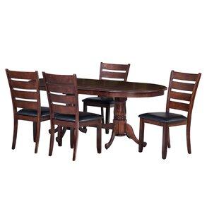 comparison princeton 5 piece dining set by ttp furnish beach style