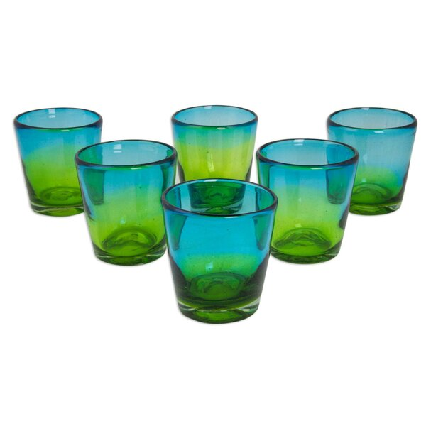 Aurora Tapatia 8 oz. Every Day Glasses (Set of 6) by Novica